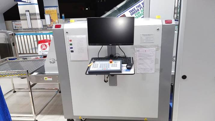 Evolve X-Ray Baggage scanners machine securing Chennai metro stations